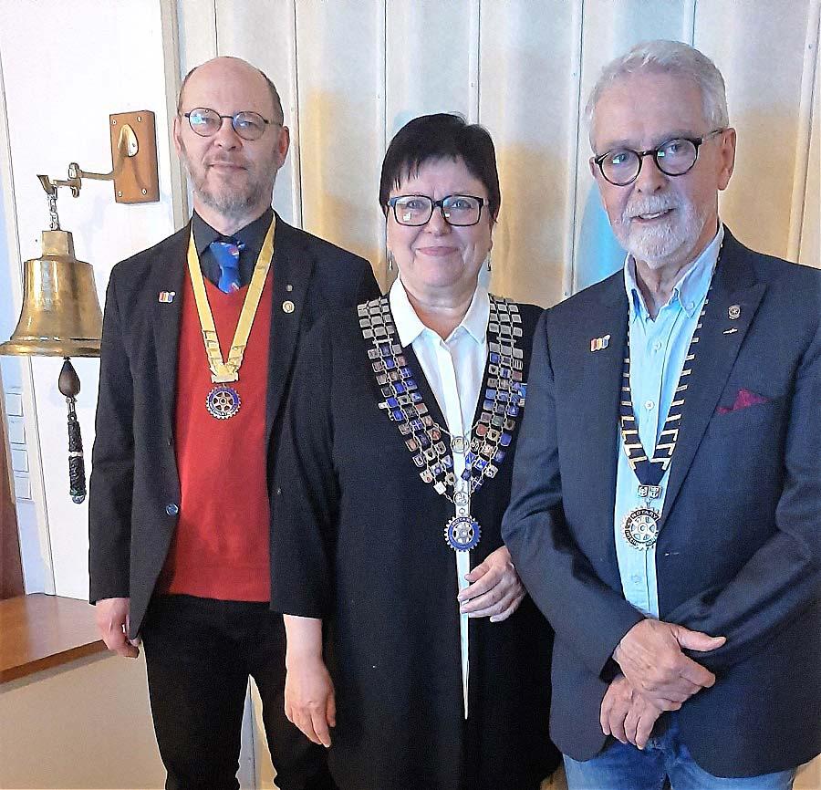 Distriktguvernör Anita Häggblom besök vid Nagu Rotaryklubb -6.11.2020