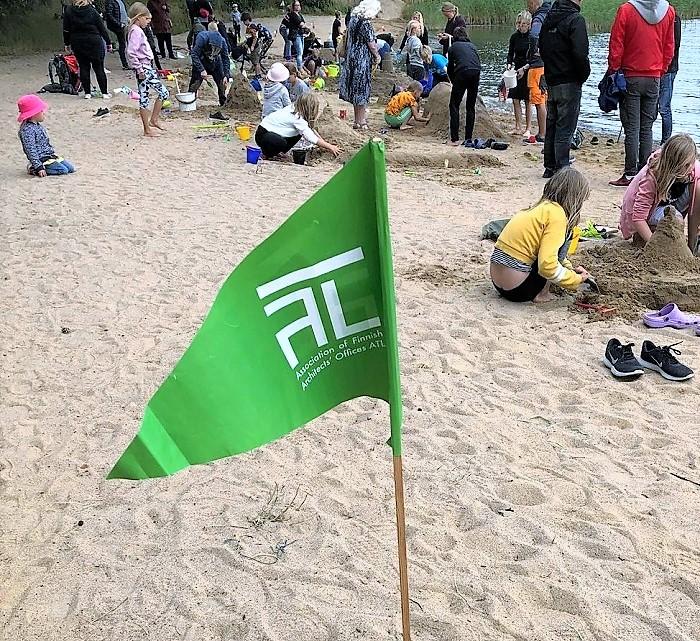 Sandslottstävling 2020 - ATL vimpel