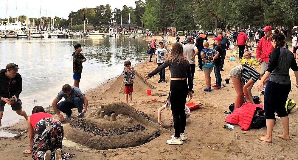 Sandslottstävling & Forneldsfest – Nagu Framnäs 29.8.2020